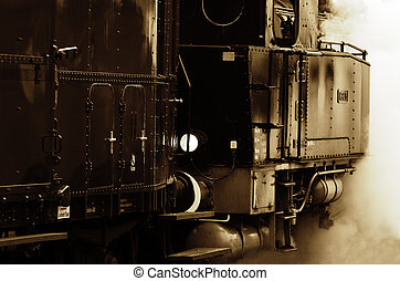 steam locomotive - a steam locomotive