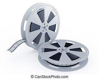 Movie films spool - 3d render of movie films spool on white...