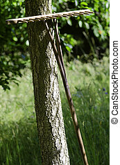 rake - a wooden rake