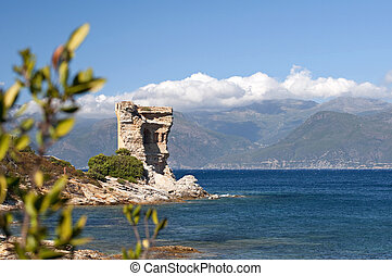 Genoese tower, Corsica - Genoese tower, Saint Florent,...
