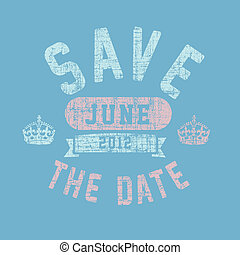 Vector Clothing Save the Date Background