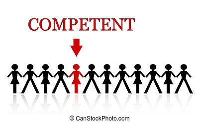 stand out from the crowd, be competent