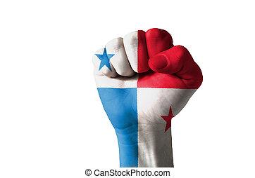 puño, pintado, colores, Panamá, bandera