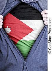 Jordanian Businessman - A Jordanian businessman rips open...