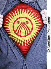 Kyrgyzstani Businessman - A Kyrgyzstani businessman rips...