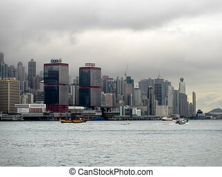 View of Hongkong skyline