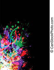 Colourful bright ink splat