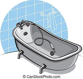 Images et illustrations de baignoire 4 036 illustrations de baignoire dispon - Baignoire de couleur ...