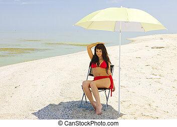 hot beach.