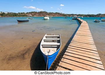 Pontoon of the marina of Diego Suarez (Antsiranana), north...