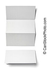 leaflet letter business card white blank paper template -...