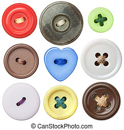 Sewing buttons - Various sewing buttons with a thread