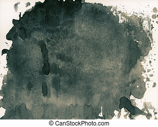 Ink texture - Abstract painted grunge background, ink...