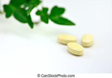 Dietary Supplements. The close-up of a supplement.