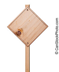 Wood sign isolated,