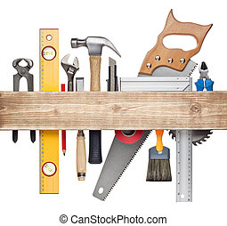 Carpentry background - Carpentry, construction hardware...