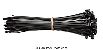 Zip ties - Cable zip ties, isolated on white