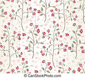 seamless leaves wallpaper - Floral seamless pattern EPS 10...