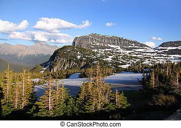 Logan pass - Scenic landscape near Logan pass in Glacier...