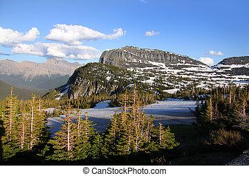 Logan pass - Scenic landscape near Logan pass in Glacier...
