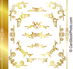 Gold luxury frame - Dsign elements set
