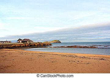 The beach in North Berwick in Scotland