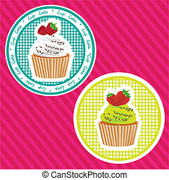 two labels cupcakes
