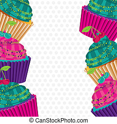 background of psychedelic cupcakes