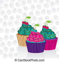 Cupcakes psychedelic