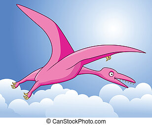 illustration of pterodactyl