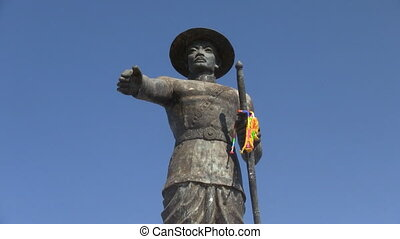 King Anouvong Chao Anou statue in Vientiane Laos