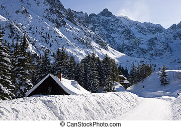 Mountain Tatras in winter scenery