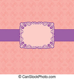 Template frame design for greeting card .
