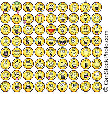 Emoticons, emoce, ikona, Vectors