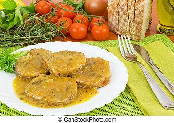 pork loin in sauce - pork loin baked with sauce