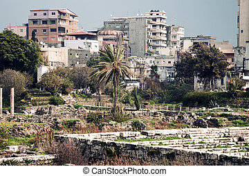 Al Mina ruins in Tyre - Al Mina ruins and architecture of...