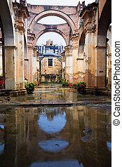 Ruins of a church in Antigua, Guatemala
