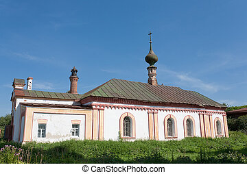 Church in Suzdal. Gold ring of Russia