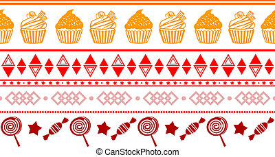 seamless confectionery colorful border