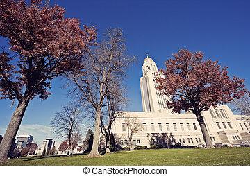 State Capitol Building in Lincoln, Nebraska, USA