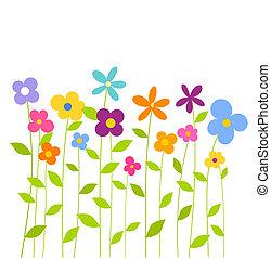 coloré, Printemps, fleurs