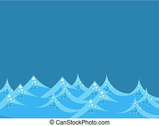 Sea waves background. Vector illustration