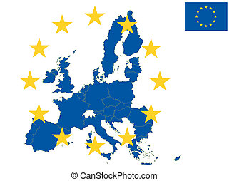 europe - illustration of europe map, from 2013 year with...