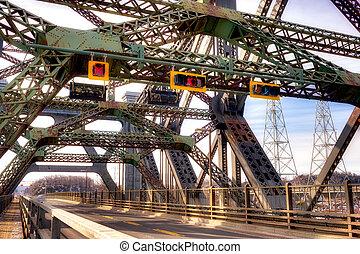 Cantilever bridge view - Quebec city's cantilever bridge...