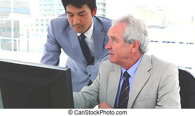 Japanese businessman with his boss - Japanese businessman...