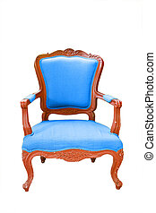 antique chair in front of white background