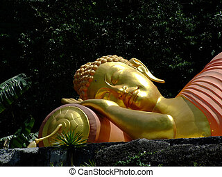 Sleeping Buddha statue - Sleeping Buddha golden statue top...