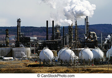 Petrochemical Plant - A petrochemical plant in full...
