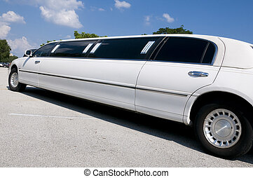 White Stretch Limo - White Stretch limousine waiting for...