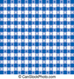 Seamless Tablecloth Gingham Pattern - Seamless pattern, blue...